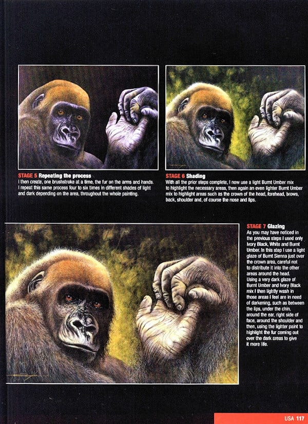 Cross River Gorilla Painting in Progress