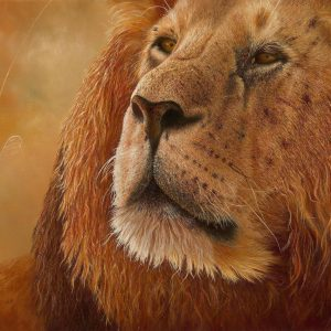 Lion Light - lion painting