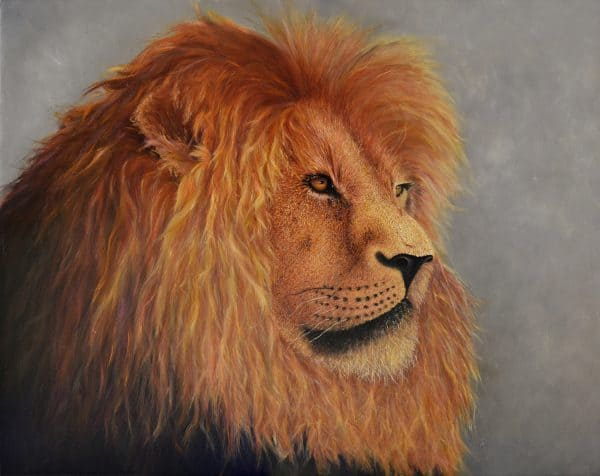 King of the pride - lion painting