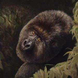 Silverback gorilla painting
